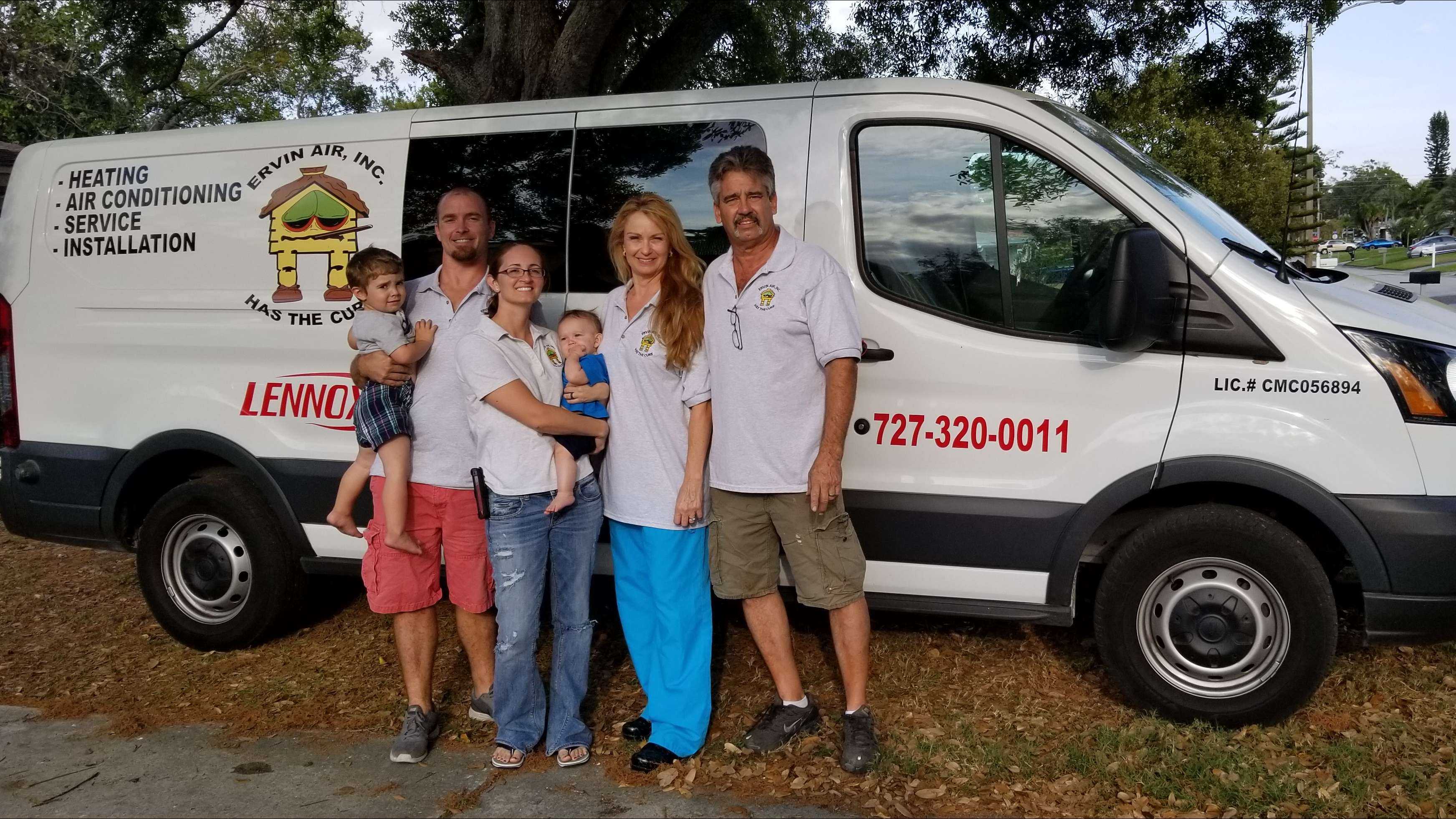 hvac contractor and family, seminole fl